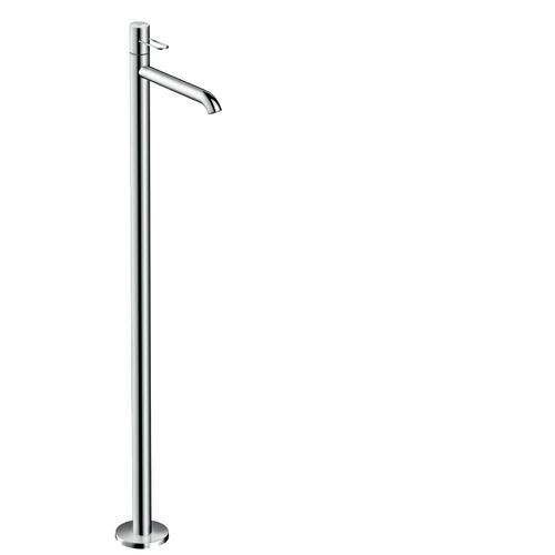 Brushed Gold Optic Single lever basin mixer floor-standing with loop handle without waste set