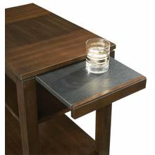 View Product - Chairside Table - Regal Walnut Finish