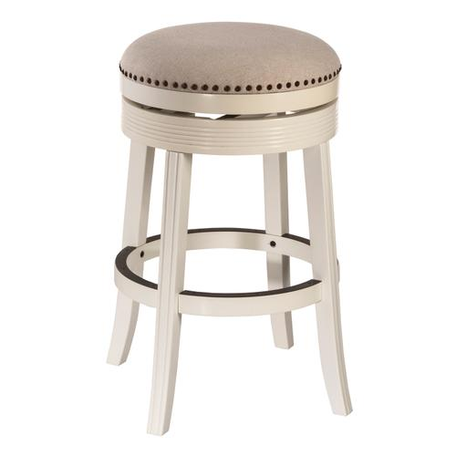 Tillman Swivel Bar Height Stool - White