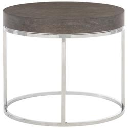 Riverside Round End Table in Weathered Charcoal