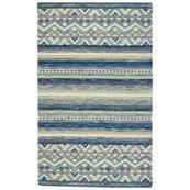 """Avanti-Kelim Alpine Blue - Rectangle - 3'6"""" x 5'6"""""""