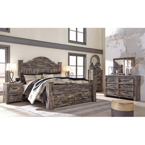 Lynnton - Rustic Brown 5 Piece Bed (King)