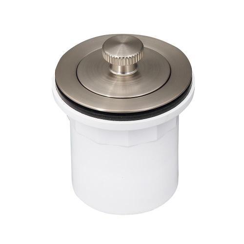 Lift u0026 Turn Tub Drain with PVC Adapter - Brushed Nickel