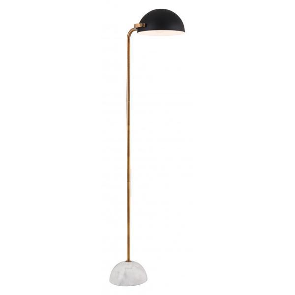 Irving Floor Lamp Black & White