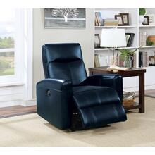 NAVY BLUE POWER RECLINER
