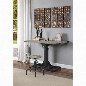 ACME Baara Desk - 22045 - Natural & Sandy Gray
