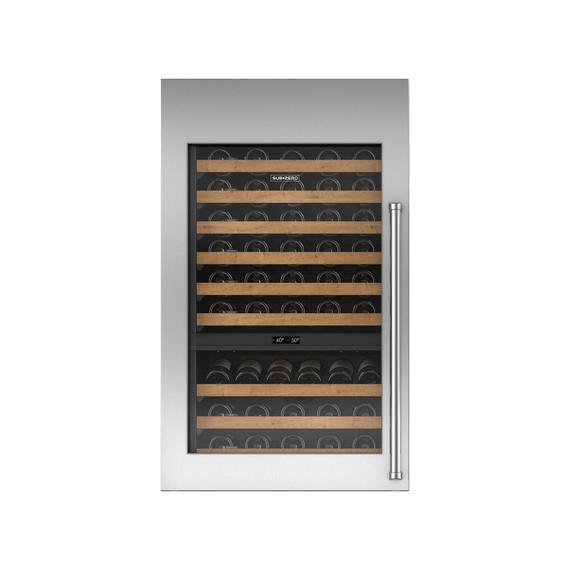 Sub-Zero - Stainless Steel Tall Wine Storage Door Panel with Pro Handle - Left Hinge