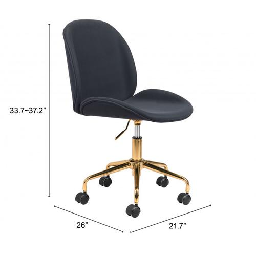 Zuo Modern - Miles Office Chair Black