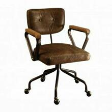 ACME Hallie Executive Office Chair - 92410 - Vintage Whiskey Top Grain Leather