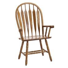 See Details - Classic Oak Chestnut Arrow Arm Chair