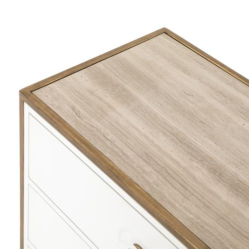 Sorella 3 Drawer Dresser-bright White