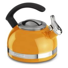 2.0-Quart Stove Top Kettle with C Handle Mandarin Orange