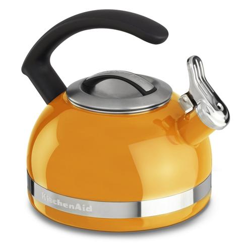 KitchenAid - 2.0-Quart Stove Top Kettle with C Handle Mandarin Orange