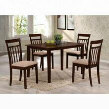 ACME Samuel 5Pc Pack Dining Set - 70325 - Espresso & Microfiber