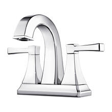 "Polished Chrome 2-Handle 4"" Centerset Bathroom Faucet"