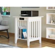 See Details - Mission Printer Stand with Charging Station White