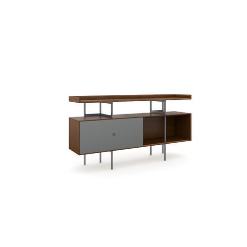 BDI Furniture - Margo 5211 Console in Toasted Walnut Fog Grey