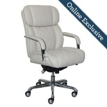 Product Image - Sutherland Quilted Leather Office Chair, Light Ivory