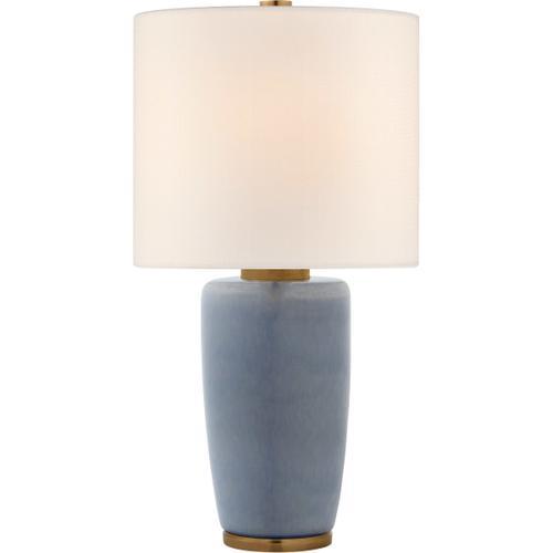 Barbara Barry Chado 31 inch 100 watt Polar Blue Crackle Table Lamp Portable Light, Large