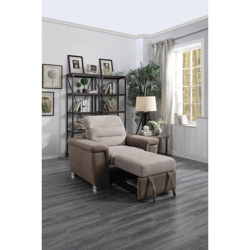 Homelegance - Chair with Pull-out Ottoman