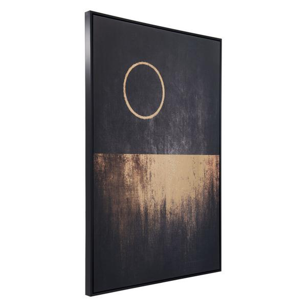 Full Moon Rises Canvas Black & Gold