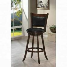"ACME Tabib Bar Chair w/Swivel (1Pc) - 96085 - Cappuccino - 29"" Seat Height"