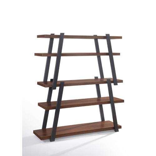 VIG Furniture - Modrest Tobias Modern Walnut & Grey Bookshelf