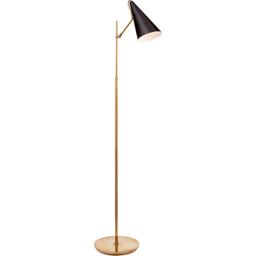 AERIN Clemente 47 inch 60 watt Brass with Black Floor Lamp Portable Light