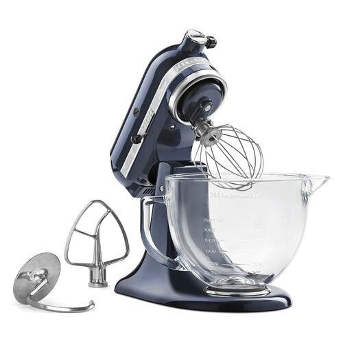 KitchenAid - Artisan® Design Series 5 Quart Tilt-Head Stand Mixer with Glass Bowl Blueberry