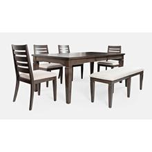 Lincoln Square Extension Dining Table With 4 Chairs and Bench