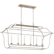 View Product - Gallery Island Chandelier in Century Silver Leaf