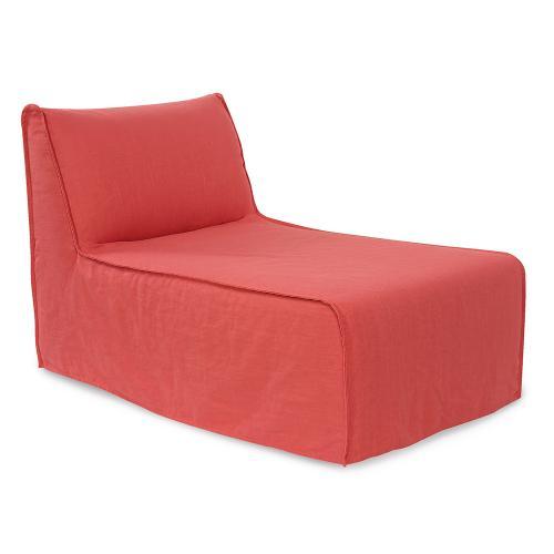 Pod Lounge Cover Linen Slub Poppy (Cover Only)
