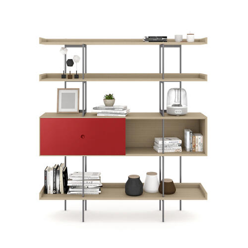 5201 Shelf in Drift Oak Cayenne