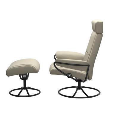 See Details - Stressless® Paris Original Adjustable headrest Chair with Ottoman