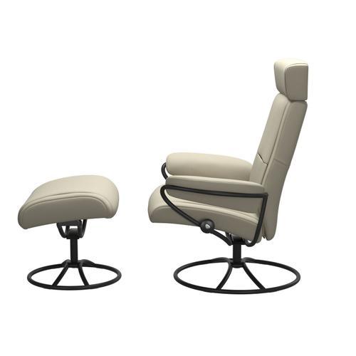 Stressless By Ekornes - Stressless® Paris Original Adjustable headrest Chair with Ottoman