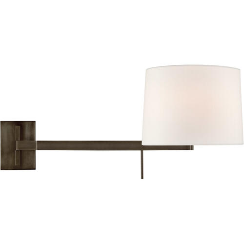 Barbara Barry Sweep 1 Light 12 inch Bronze Articulating Wall Sconce Wall Light, Medium Left