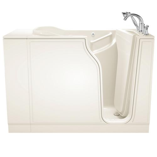 American Standard - Gelcoat Value Series 30x52-inch Walk-in Tub with Whirlpool System  American Standard - Linen