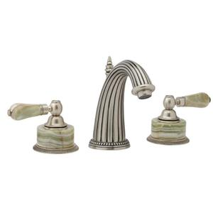 REGENT Widespread Faucet Green Onyx K370 - Satin Black