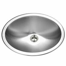 Topmount Stainless Steel Oval Bowl Lavatory Sink