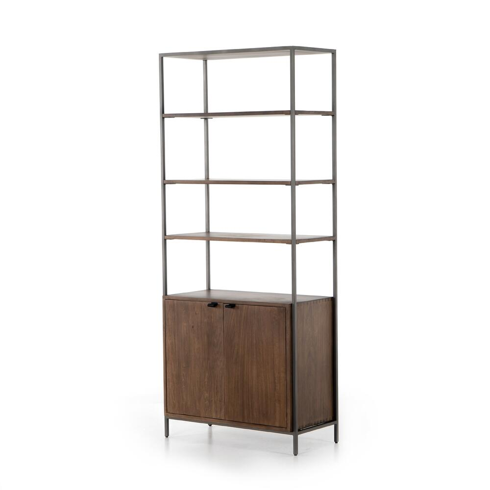 Auburn Poplar Finish Trey Modular Wide Bookcase