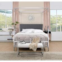 RAEGAN CHROME QUEEN BED