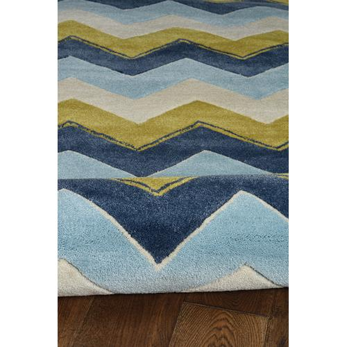 Trio Zag Blue 5ft X 7ft