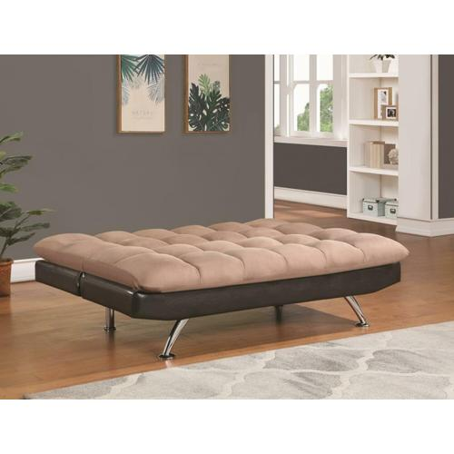 Coaster - Casual Overstuffed Brown Sofa Bed
