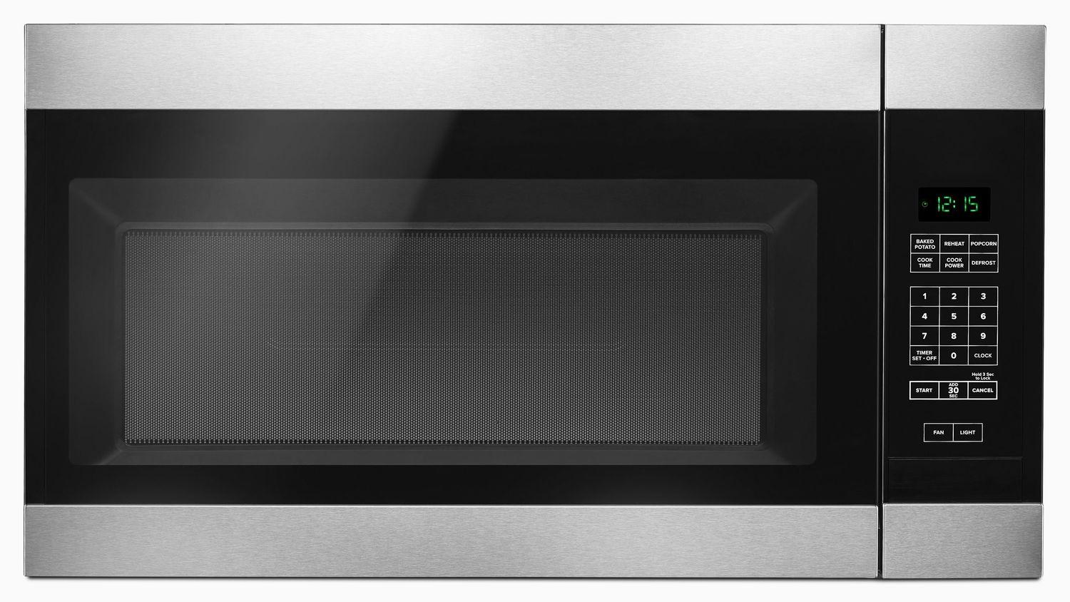 Amana1.6 Cu. Ft. Over-The-Range Microwave With Add 0:30 Seconds Stainless Steel
