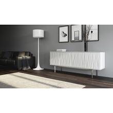View Product - Tanami 7109 Storage Credenza in Smooth Satin White