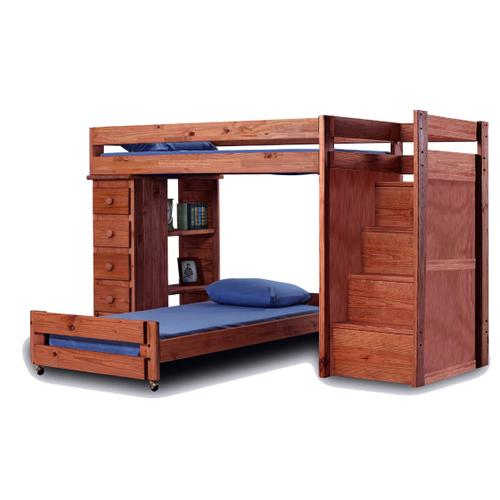 Twin/Full Staircase Loft Bed