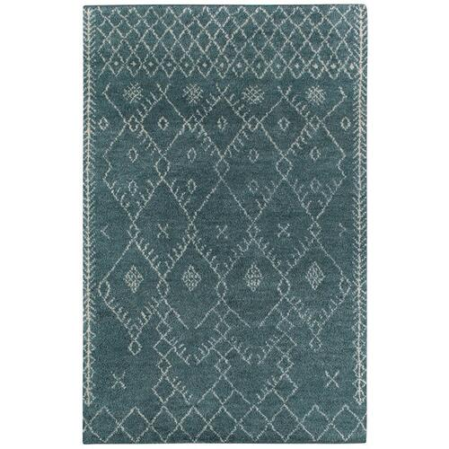 Kasbah-Diamond Aqua - Rectangle - 3' x 5'
