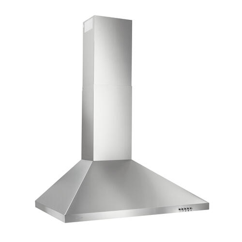 Broan® 30-Inch Convertible European Style Wall-Mounted Chimney Range Hood, 350 CFM, Stainless Steel