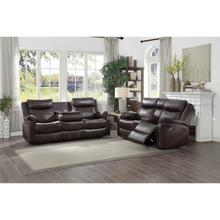 See Details - Double Lay Flat Reclining Sofa with Center Drop-Down Cup Holders & Love Seat with Center Console
