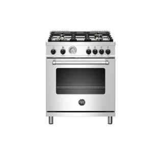 "Bertazzoni30"" Master Series range - Gas oven - 4 aluminum burners - Black knobs - LP version"